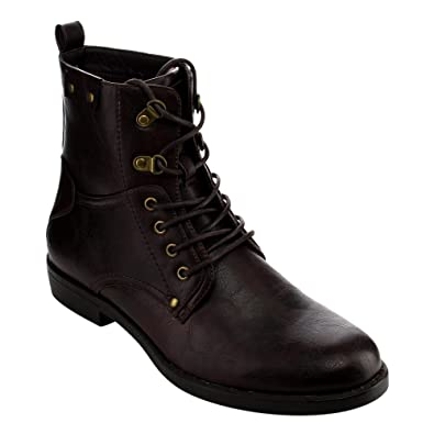 Amazon.com | Arider AC74 Men's Lace Up High-Top Military Combat ...