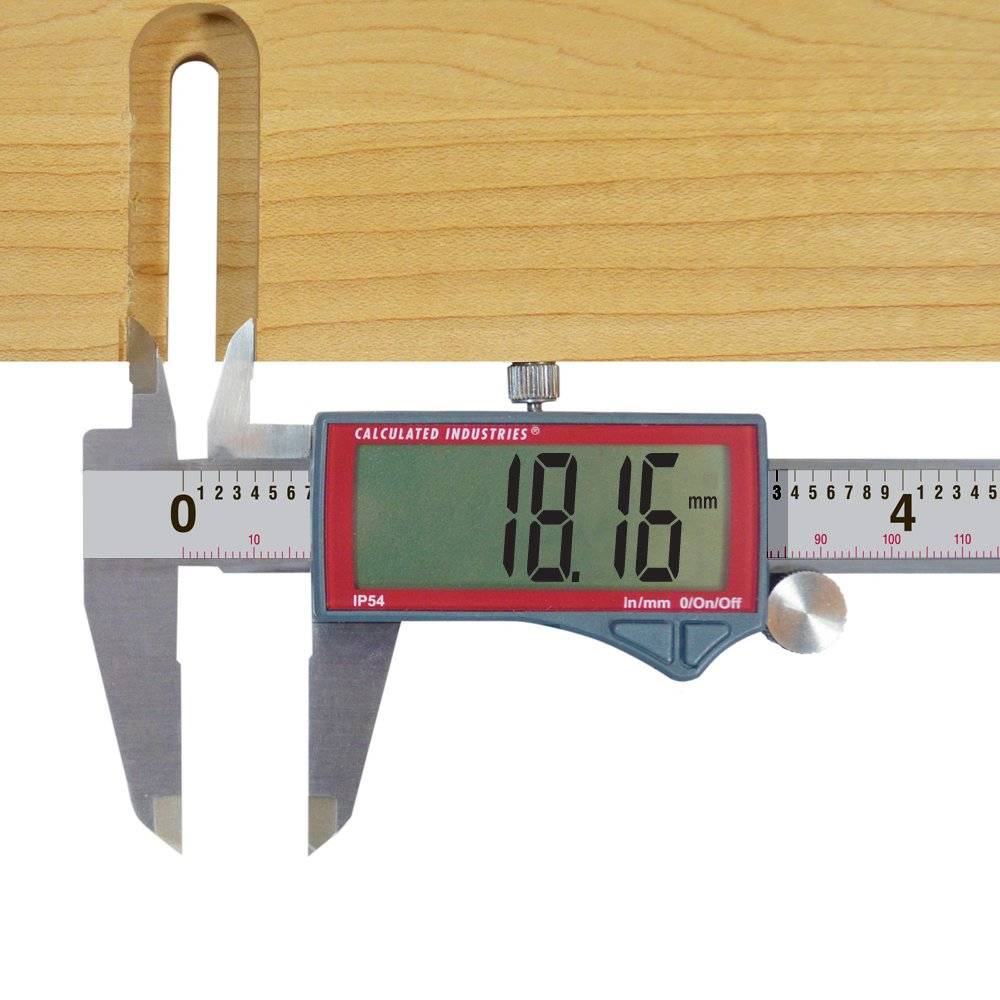Calculated Industries 7418 AccuMASTER Electronic Digital Vernier Caliper | Metric/SAE Inch to Millimeter Conversion | Tool Measures 0-6 Inches/150mm | Stainless Steel | Largest Display Digits |IP54 by Calculated Industries (Image #9)