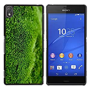 Be Good Phone Accessory // Dura Cáscara cubierta Protectora Caso Carcasa Funda de Protección para Sony Xperia Z3 D6603 / D6633 / D6643 / D6653 / D6616 // Moss Nature Spring Botanic
