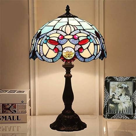 Lámpara de mesa Tiffany de 12 pulgadas Lámpara de mesa de cristal ...