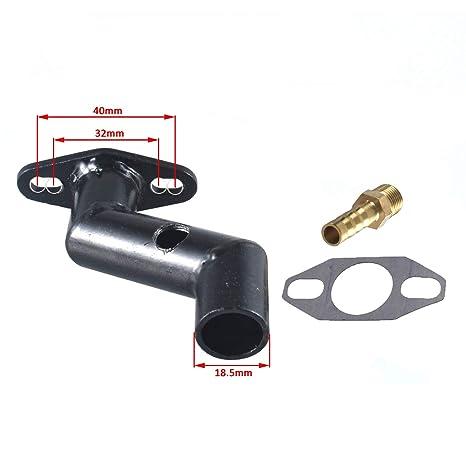 HGC 32-40mm Short Steel Offset Intake Manifold Carburetor W//Gasket 49cc 60cc 66cc 80cc Motorized Bike Bicycle