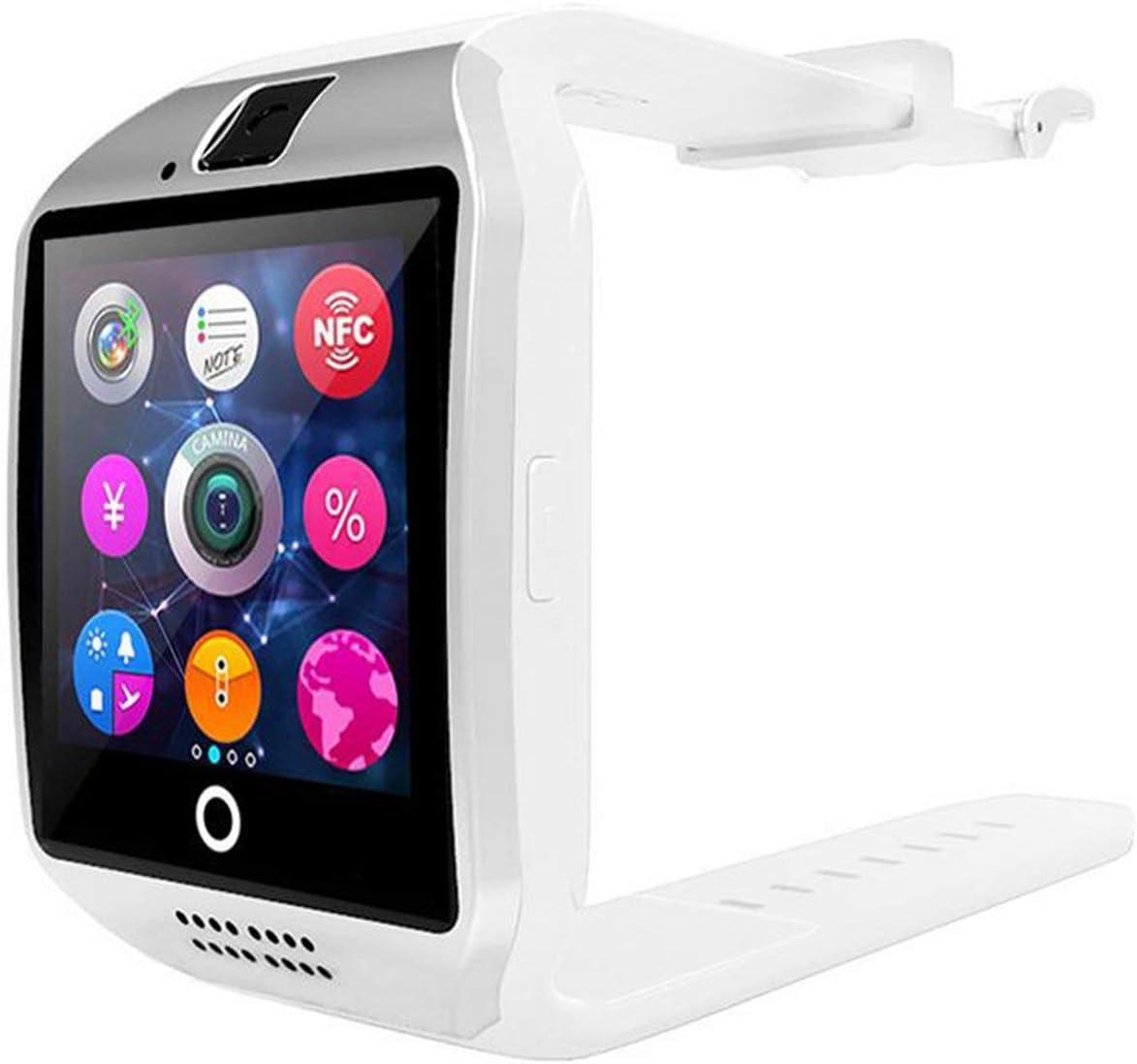 Elviray Smart Watch Q18 con cámara Facebook Whatsapp Twitter SYNC SMS Smartwatch Soporte SIM TF Card para iOS Android