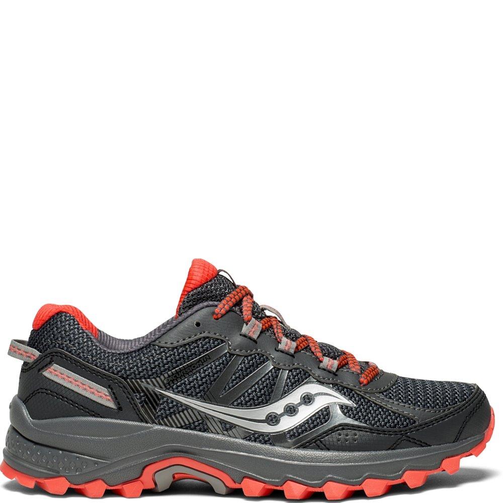 Saucony Women's Excursion TR11 Running Shoe, Grey/Red, 7 Medium US
