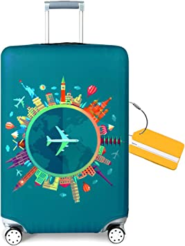Scientific Instrument Symbol Travel Luggage Cover Suitcase Protector Washable Zipper Baggage Cover