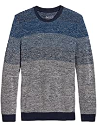 Mens Ombre Marled Crewneck Sweater
