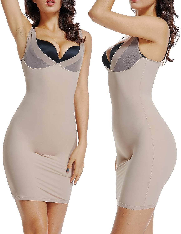 Figurformendes Komfort-Unterkleid mit einem Semi-Transparenten Ausschnitt und Skinny-Tr/äger