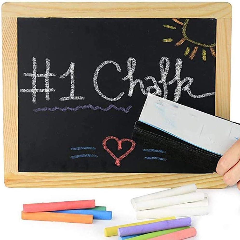 Qeedio 12 Pezzi di Gesso Senza Polvere Gesso Disegno colorato Insegnante Blackboard Graffiti Chalk per la Lavagna Office School Stationary Regalo Perfetto per Tutti