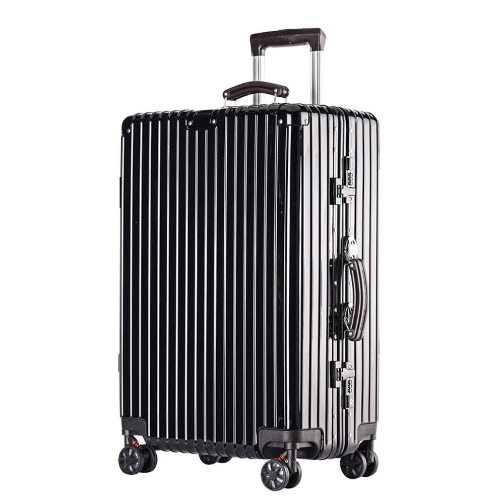 Built-in Password Lock 2 YD Luggage Set Trolley case Comfortable Handle 5 Colors Stylish Small Fresh and Bright Aluminum Frame Caster Student Large Capacity Suitcase ABS//PC