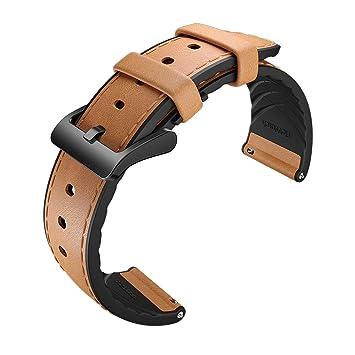 Correa de cuero híbrida TicWatch para Smartwatch Ticwatch ...