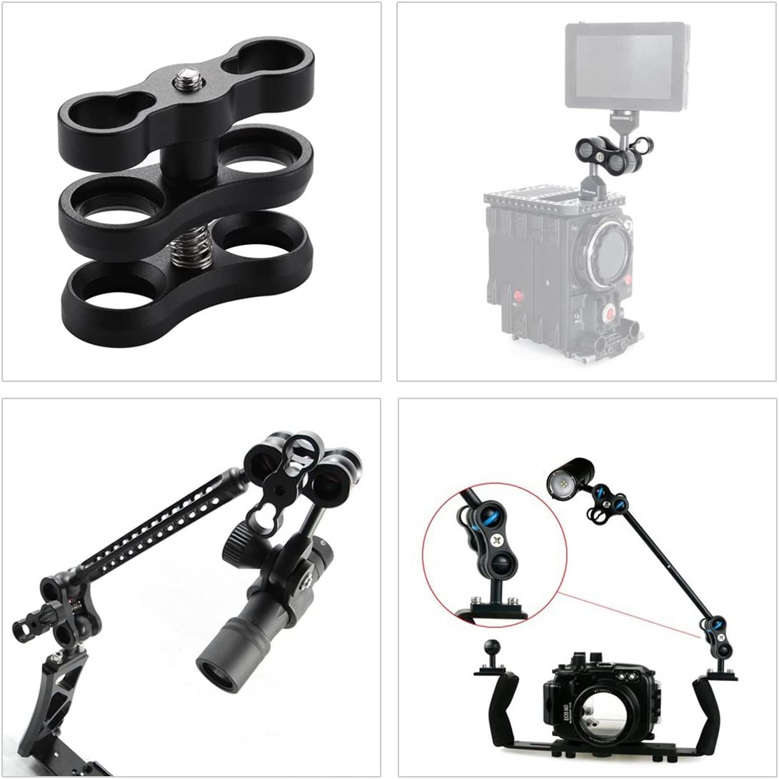 Dual Aluminum Alloy Clamp for Underwater Arm System Durable