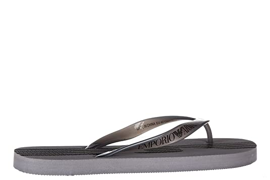 fb26645886a Emporio Armani EA7 Tongs Homme en Caoutchouc Sea World 7 Lines Gris   Amazon.fr  Chaussures et Sacs