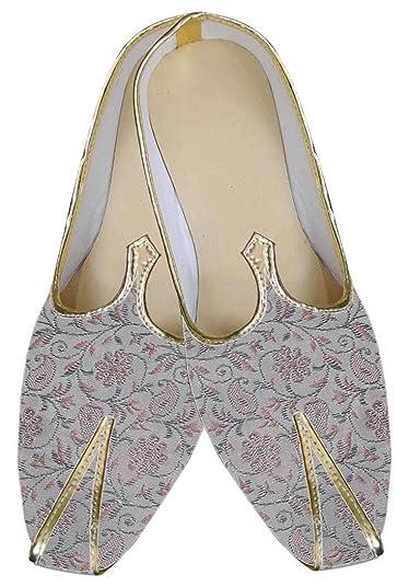 Mens Natural Wedding Shoes Pink Flower MJ0069