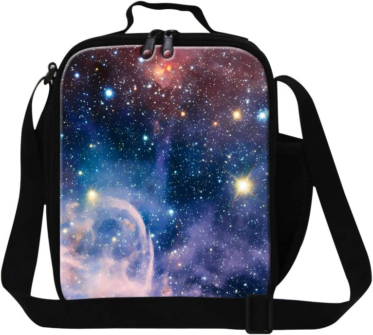 CrazyTravel Insulated Lunch Box Sacks Bag Shoulder Strap Baby Boy Girl Adult Work