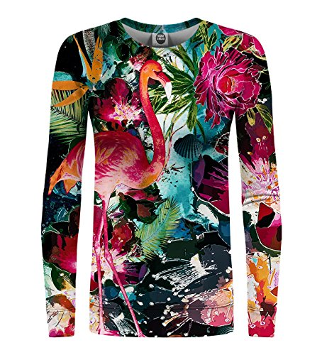 Mr Estampada Go amp; Gugu Colorful Flamingo Sudadera Mujer Miss 646SRxqw