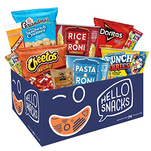 Hello Snacks Holiday Survival Kit with Chips, Chewy Bars, Oatmeal, Pasta Cups, & More, 30 Snacks