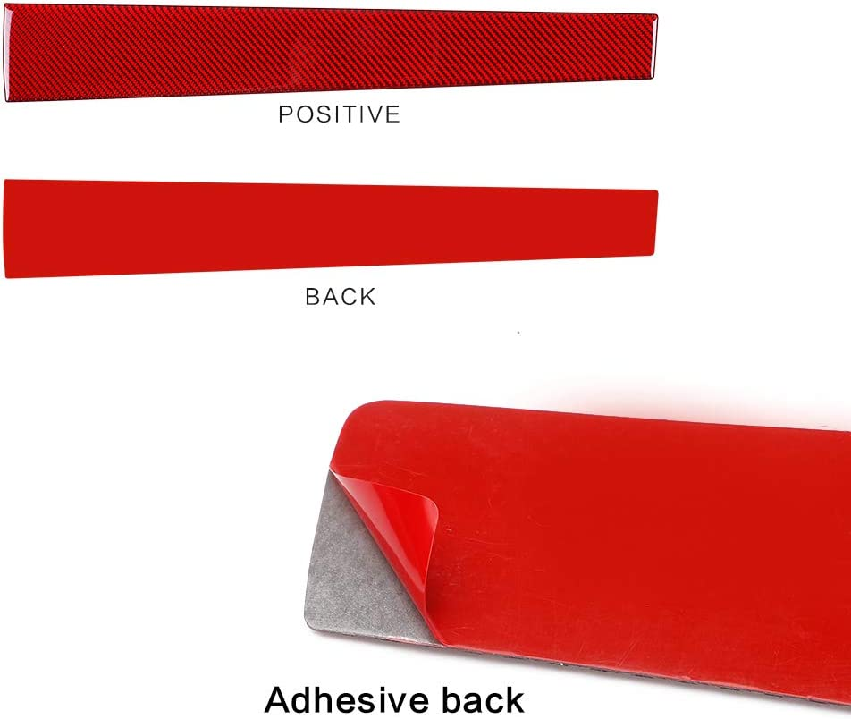 Red,3pcs ramuel Compatible with Carbon Fiber Special Interior Center Console Dashboard Cover Trim for Honda Civic 2016 2017 2018 2019 2020