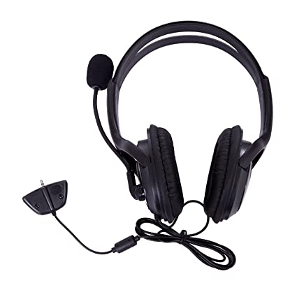 HDE XBOX 360 Headset Headphone Mic Game Chat Live Microphone Compatible With Wireless Controller