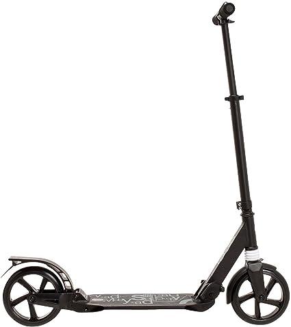 Micro Trottinette Charge 150KG Grand Scooter Noir de Roue Scooter Adulte de la Jeunesse avec la Double Absorption de Freins /à Disque Non-/électrique Scooter Pliable de banlieusard