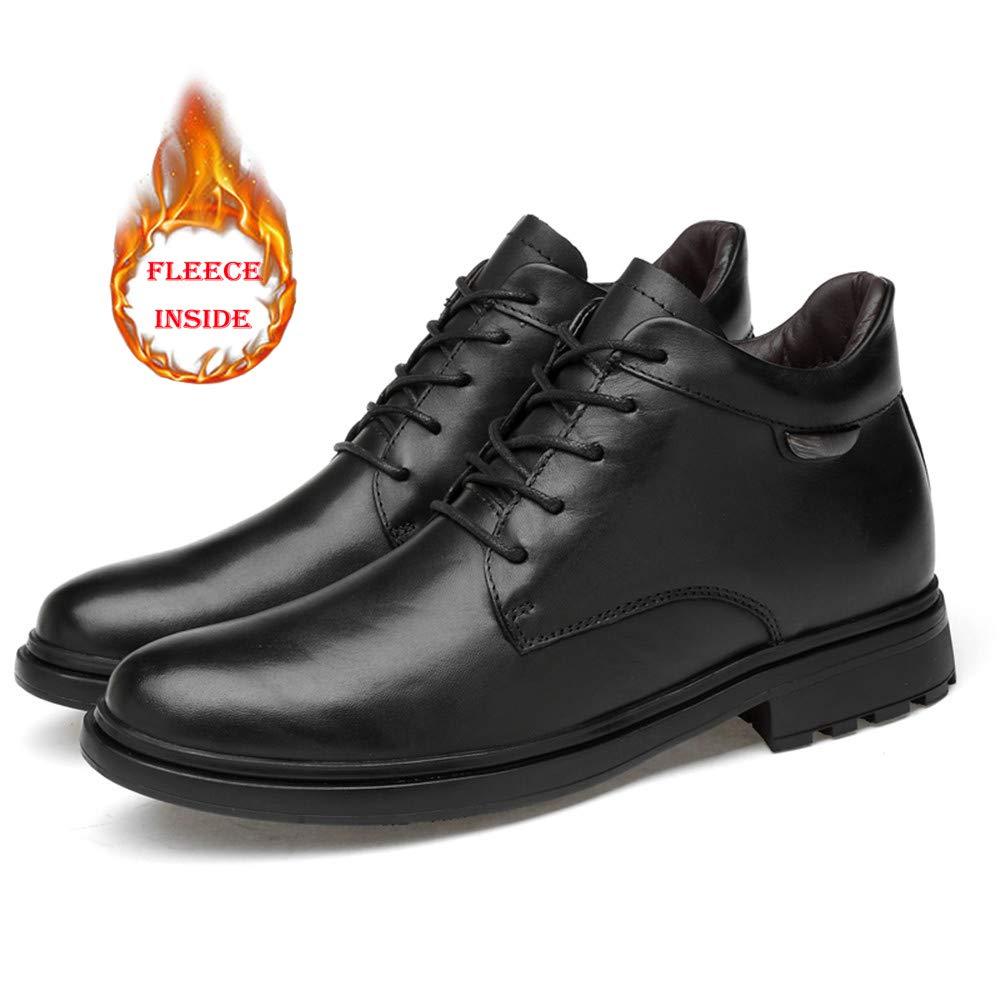 Shuo lan hu wai Bottines pour Hommes Casual Casual Casual Fashion New Haut de Gamme en Cuir Haut Haut Bout Rond Chaussures de Travail de laçage (Coton Chaud en Option),Chaussures de Cricket bef689