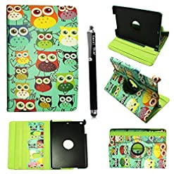 Kamal Star KINDLE FIRE HD 7 2012 Case, Leather Wallet flip cover,back stand cover, Full Body protection tablet cover (Design 01 Multi Owl)
