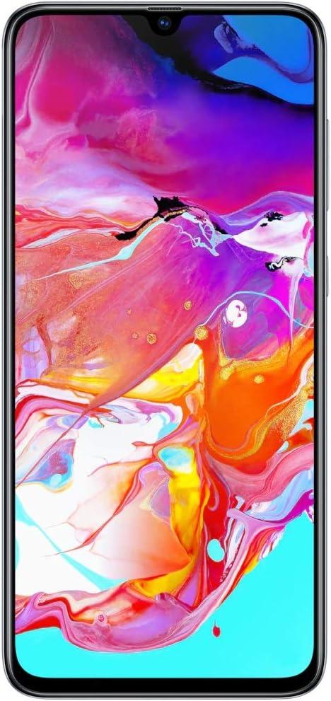 Samsung Galaxy A70 128GB//6GB SM-A705MN//DS 6.7 HD+ Infinity-U 4G//LTE Factory Unlocked Smartphone Renewed International Version, No Warranty Black