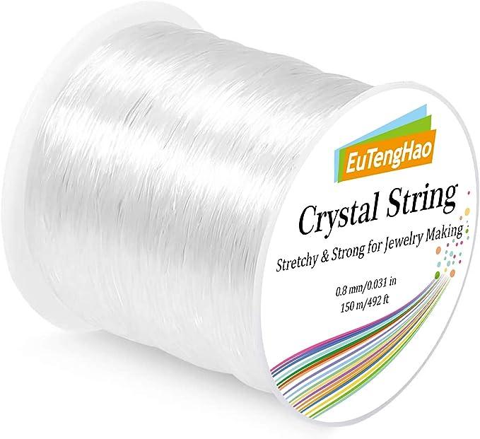 Elastic Bracelet String Cord 0.8mm Jewelry Cord Elastic Bracelet Rope for DIY Jewelry Making Bracelet Making 393ft