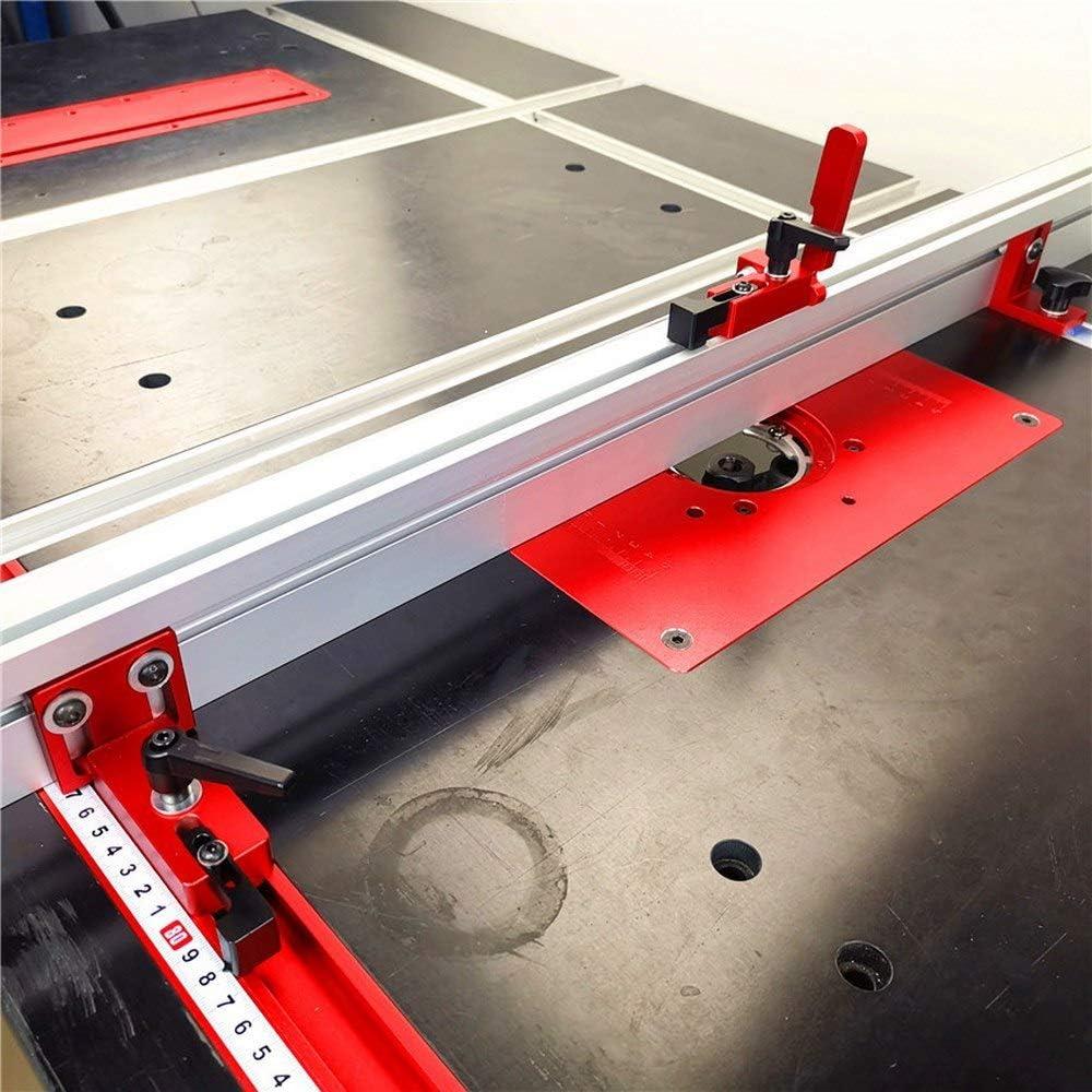 Aluminium f/ür die Holzbearbeitung DIY Werkbank f/ür Zaun 800mm 800MM, Silber 75 Typ T-Nut T-track T-Schienen Aluminium Holzbearbeitung Backer Tischkreiss/äge T-Schlitz