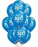 """Class of 2017 Graduation 11"""" Blue Latex Balloons - Pack of 12"""
