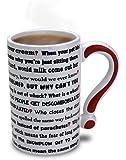 """BigMouth Ceramic """"Questions"""" Mug, White"""