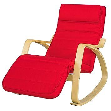 Amazon.com: Cómoda silla relajarse mecedora con reposapiés ...