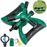 711TEK Garden Sprinkler Automatic Lawn Sprinkler Water Sprinkler Lawn Irrigation System 360 Degree Rotating Adjustable for Garden Lawn Yard Kids (Sprinkler with Counterweight Module)