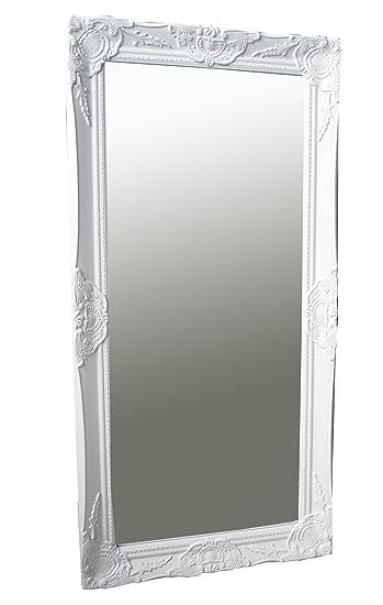 Spiegel Wandspiegel Weiß Barock TABEA 100 X 50 Cm
