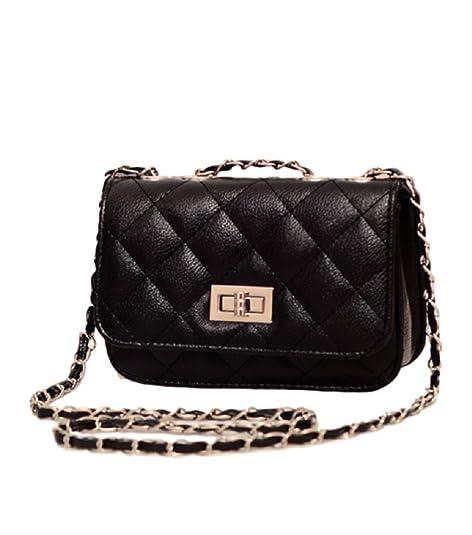 Amazon.com  RF Womens Purses and Handbags Ladies Tote Bag Shoulder Bags  with lock chain (Black)  Shoes 29328966f1d1d