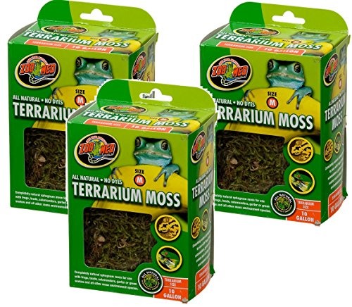 Zoo Med Terrarium Moss 10 Gallon (Pack of 3)