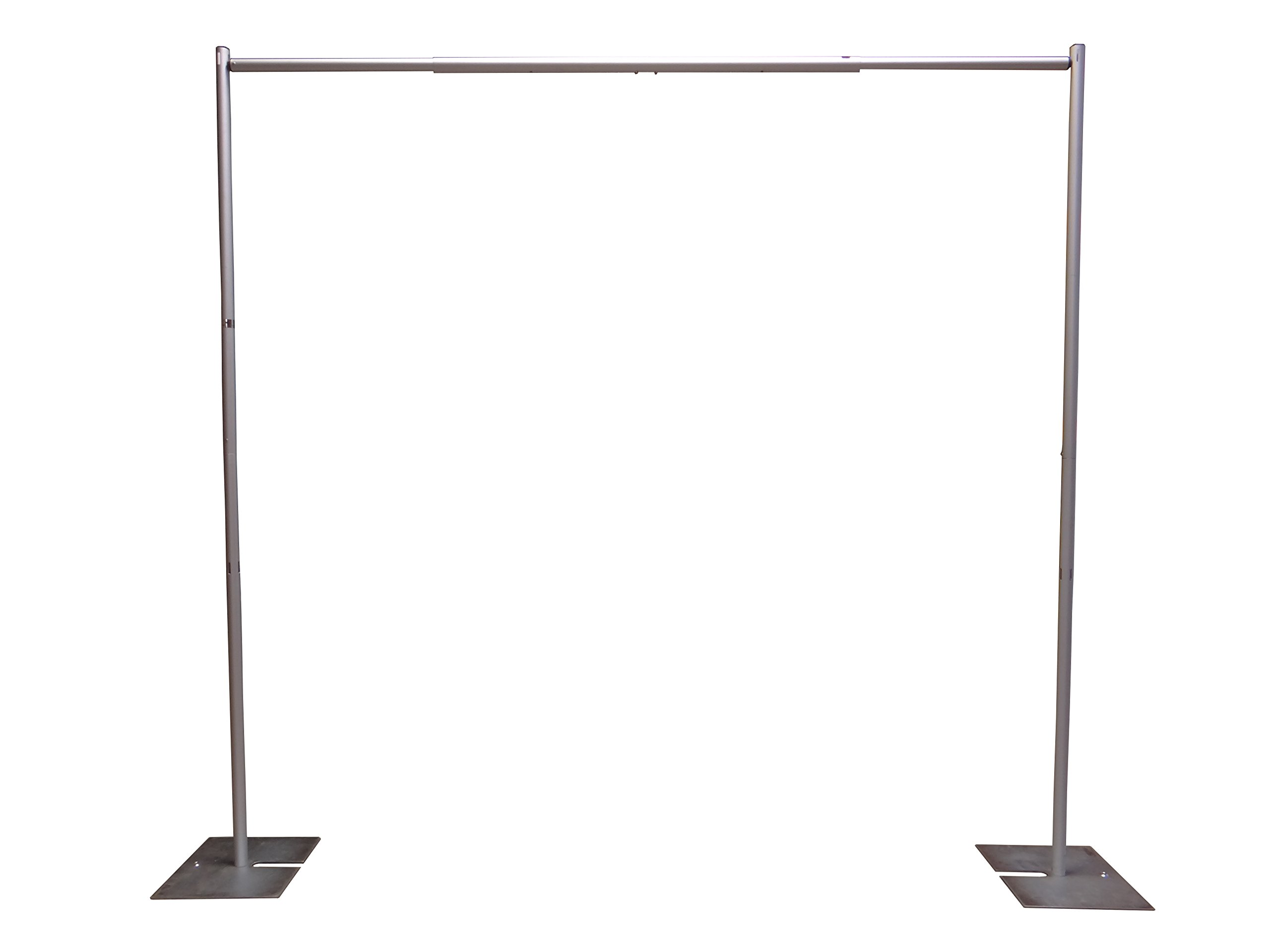 OnlineEEI Premier Portable Pipe and Drape Backdrop Kit 8ft x 10ft (No Drapes) by OnlineEEI