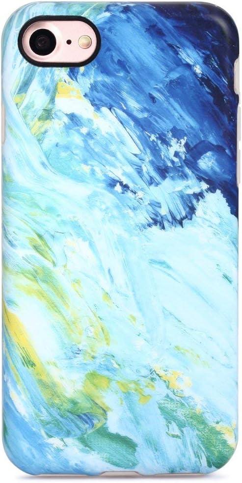 GOLINK iPhone 7 Case/iPhone 8 Case, Oil Painting Slim-Fit Anti-Scratch Shock Proof Anti-Finger Print Flexible TPU Gel Case for iPhone 7/iPhone 8 - Oil Painting
