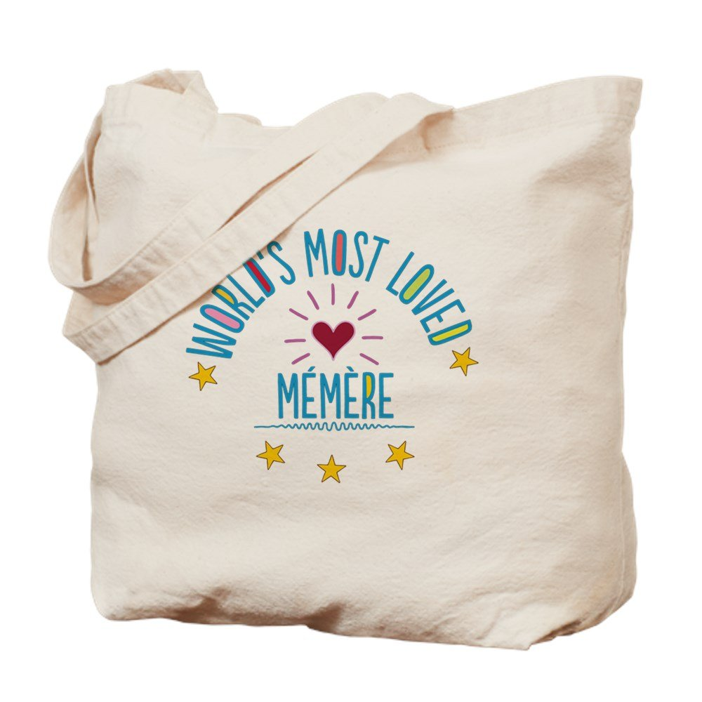 CafePress – World 's Most Loved Memere – ナチュラルキャンバストートバッグ、布ショッピングバッグ M ベージュ 14564978606893C B073QTBTMC  M