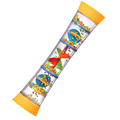 "playkidz 12"" Rainmaker Rattle Toy for Babies & Toddlers, Kids Rainfall Rattle Tube, Rain Stick Shaker, Music Sensory Auditory Instrument Toy.: Toys & Games"