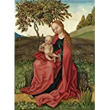 Canvas Prints Of Oil Painting ' Style Of Martin Schongauer The Virgin And Child In A Garden ' , 18 x 25 inch / 46 x 62 cm , Polyster Canvas, gifts for Home Office, Living Room And Nursery Decoration