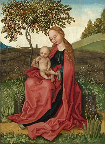 Oil Painting 'Style Of Martin Schongauer The Virgin And Child In A Garden ' Printing On Polyster Canvas , 20 X 27 Inch / 51 X 69 Cm ,the Best Powder Room Gallery Art And Home Gallery Art And Gifts Is This Cheap But High Quality Art Decorative Art Decorative Canvas Prints
