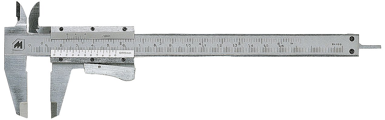Metrica 10038 Vernier Calliper Matte 150 mm Also with Inch Measurements