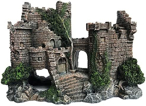 Slocme Aquarium Ornaments Resin Castle Decorations Fish Tank Supplies Accessories Eco Friendly Fish Tank Castle Aquarium Ornament Amazon Com Au Pet Supplies