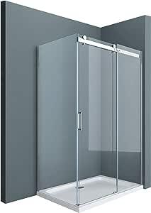 Sogood: Cabina de ducha diseño Ravenna17, 90x115x195cm, mampara de vidrio de seguridad transparente, con puerta corredera y revestimiento en ambos lados: Amazon.es: Bricolaje y herramientas