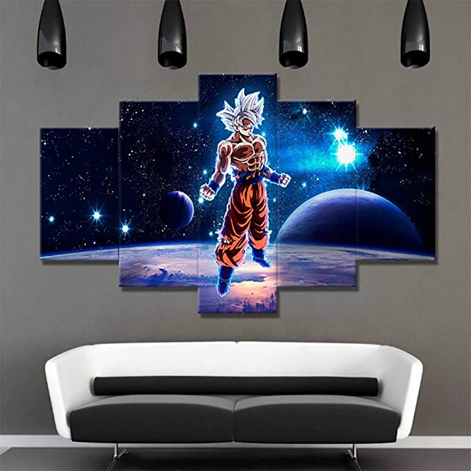 JCYMC Leinwand Bild Dragon Ball Goku Vegeta Ultra Instinkt Japan Anime Poster Druck Wandkunst Wohnzimmer Home Room Decor Jm37Ya 40X60Cm Rahmenlos
