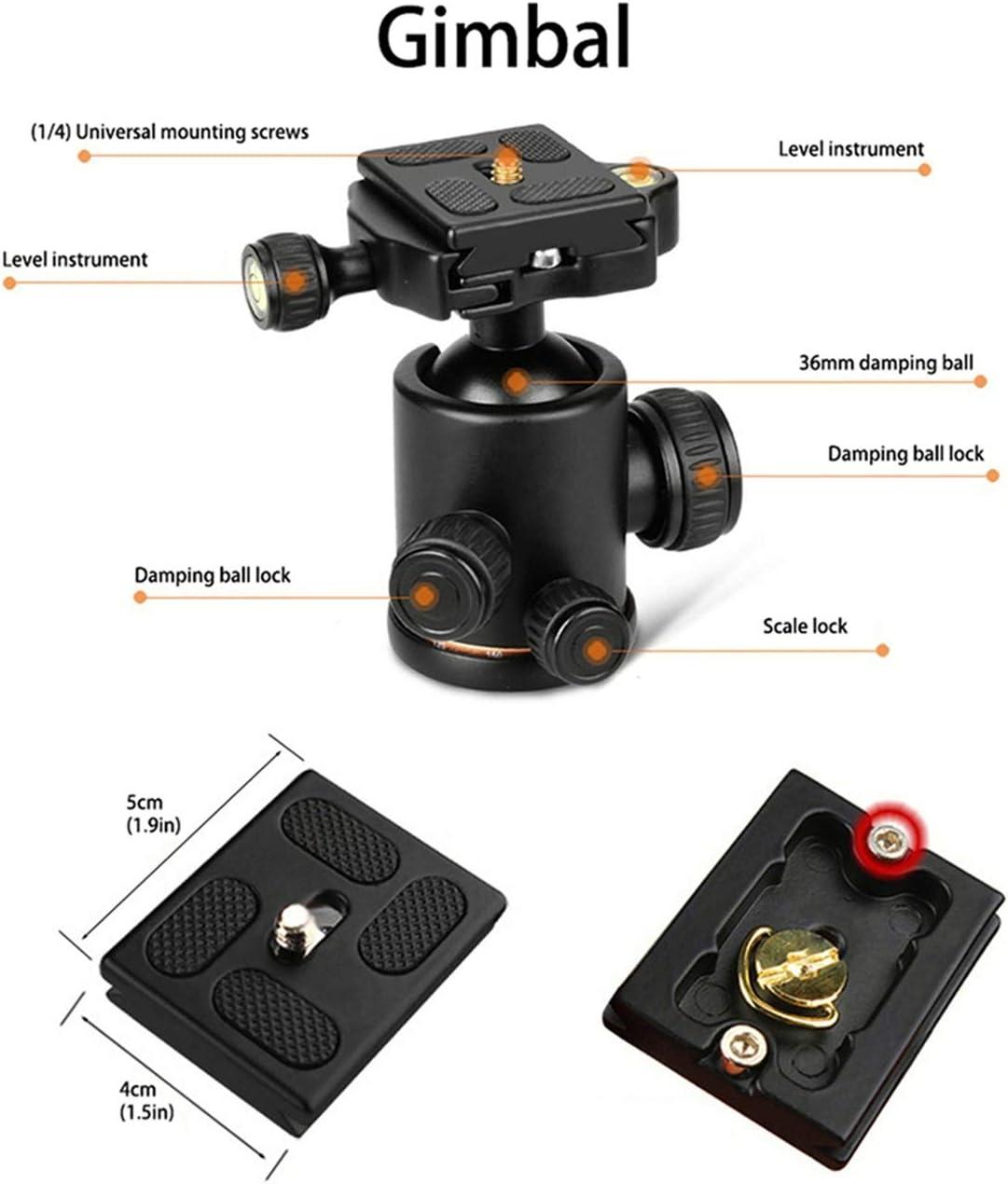 "LLluckyHW Overhead Tripod 360/° Panorama Ball Head Enhanced Twist-Lock Flexible Sturdy Legs Tripod Camera Tripod 61/""Horizontal Arm Transverse Center Column Color : Black"