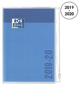 Oxford Creation Zip agenda escolar (años 2018 – 2019 1 día por página 352 páginas 12 x 18 cm) azul