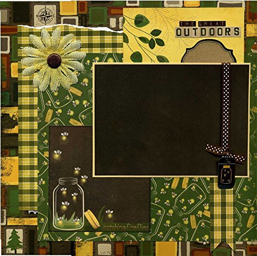 The Great Outdoors - Premade Scrapbook Page - Catching Fireflies by Susan's Scrapbook Shack, LLC