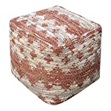 Rewa Beige/Brown Pouf