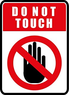 Amazon.com: Do Not Touch Sign - Alert Warning - Set of 2 - Window ...