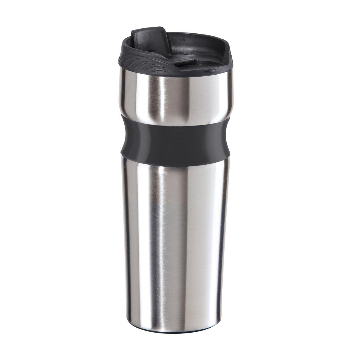amazoncom oggi stainless steel lustre contour travel mug stainless coffee travel mug kitchen u0026 dining - Coffee Travel Mugs